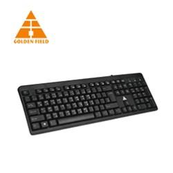 Golden Field Multimedia Wired Bangla Keyboard - GF- K301 (Black)
